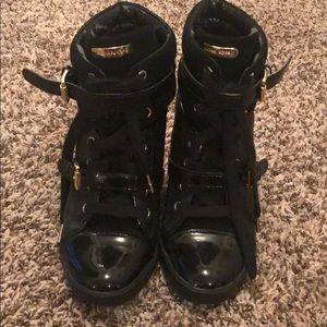 Michael Kors black high top shoes